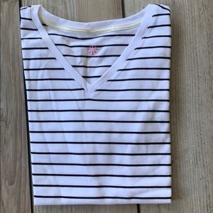 New Isaac Mizrahi Pima cotton white & black Tshirt